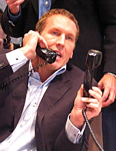 Bryan Colangelo with phones